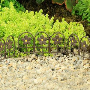 Brown Metal Fence or Edging