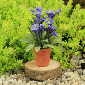 Lilac Flower & Pot