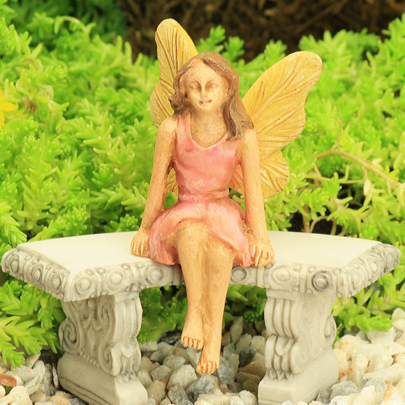 Pink Sitting Fairy