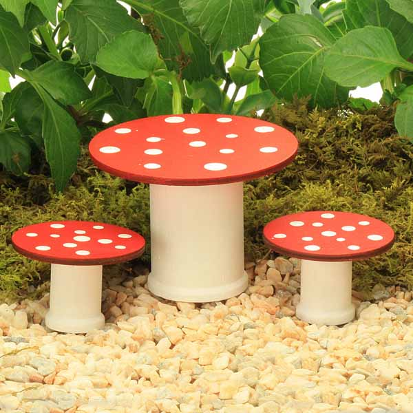 Toadstool Chairs: Fairy Toadstool Table And Stool Set, Handmade By Jennifer