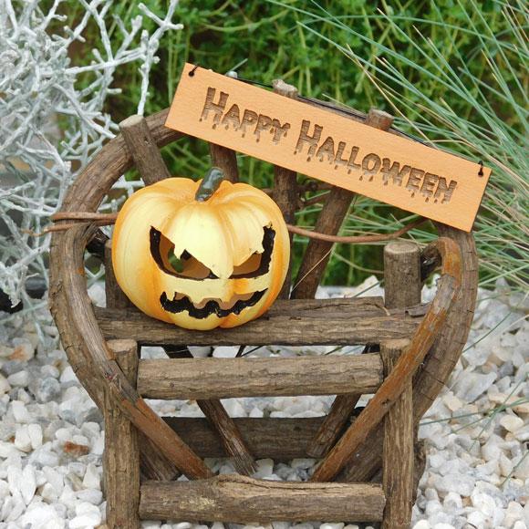 Happy Halloween Twig Bench