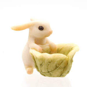 Bunny with Cabbage Bowl