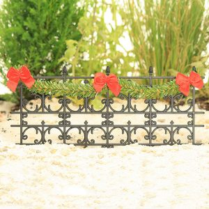 Black Fence with Garland
