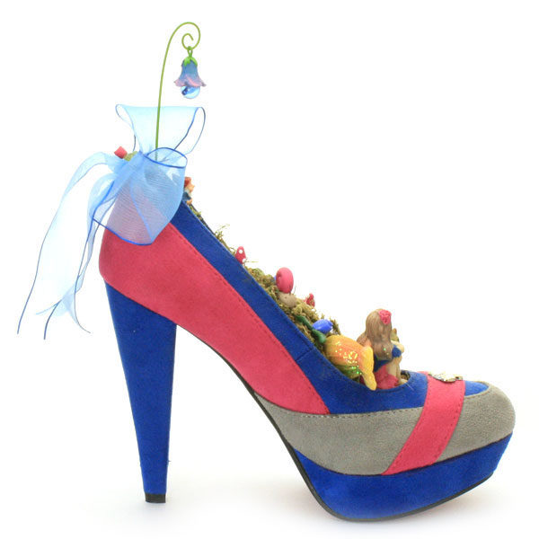 Shoe Fairy Garden Pink and blue