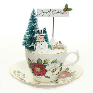 Merry Christmas vintage teacup