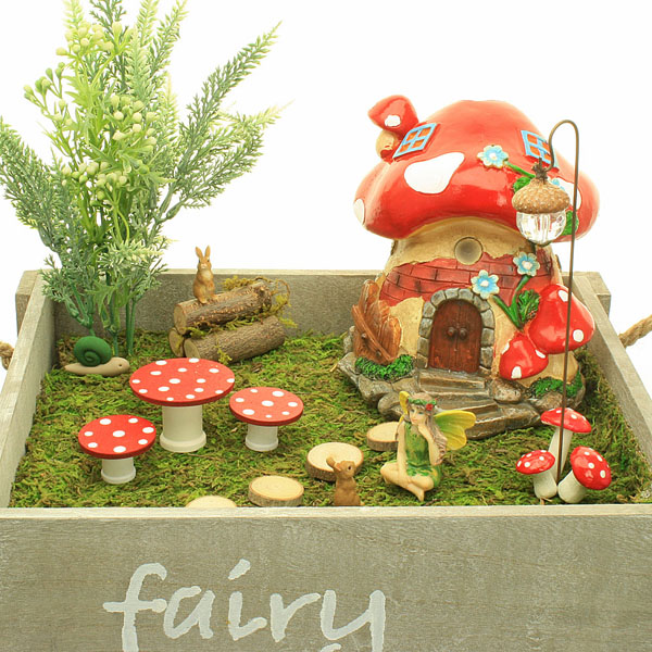 Fairy Garden Box Kit - Red