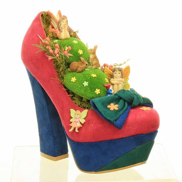 Pink Fairy Garden Shoe - Green Bow