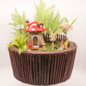 Brown Round Fairy Garden Kit