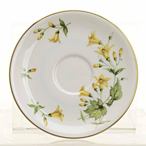 Vintage Yellow Forsythia Teacup Fairy Garden
