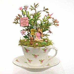 Pink Rosebud Teacup