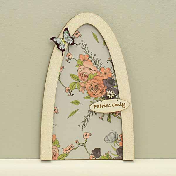 Vintage Rose Fairy Door - Blue