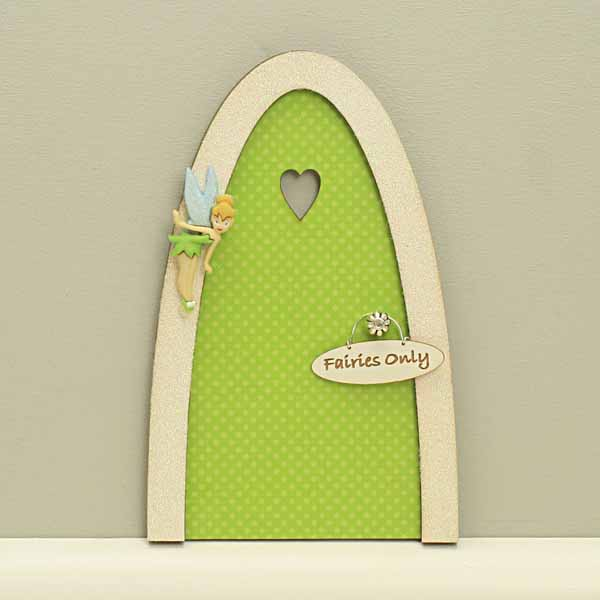 Tinker bell indoor fairy door green polka dot design for Tinkerbell fairy door