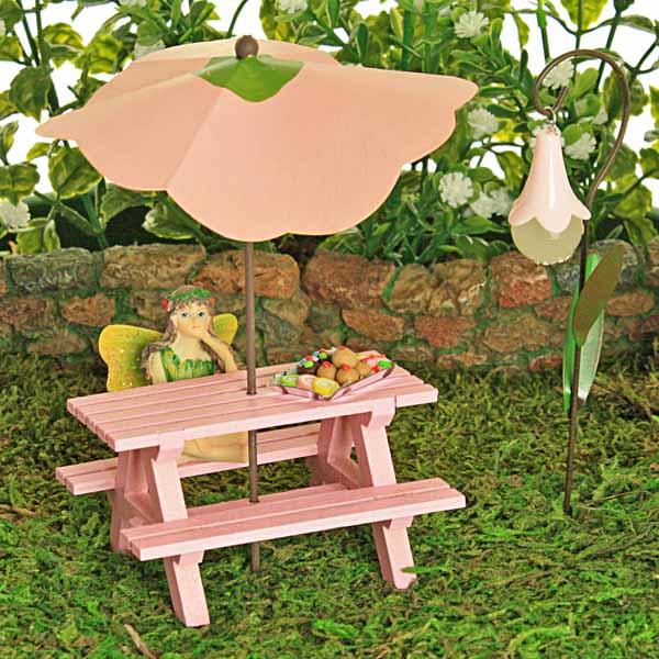 Pink Picnic Bench