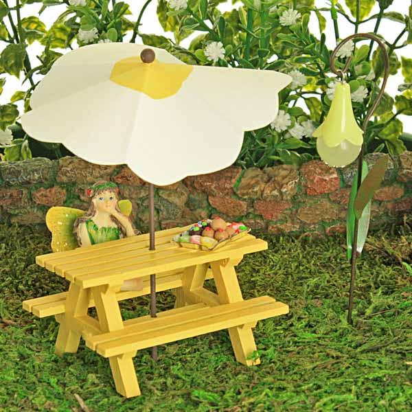 Yellow Picnic Bench
