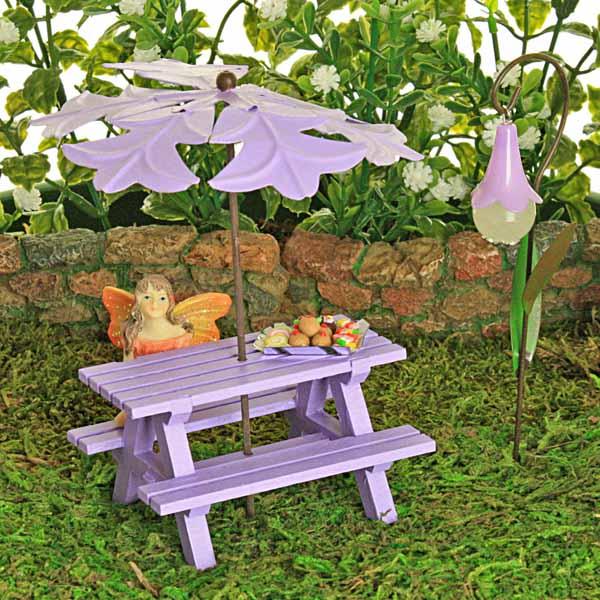 Lilac Picnic Bench