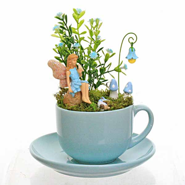 Duck Egg Blue Teacup Garden