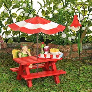Red Picnic Bench Collection