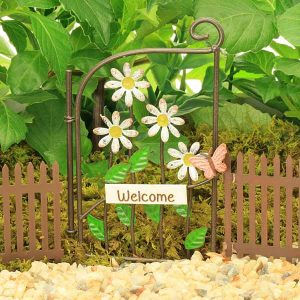Gate with Daisy Flowers