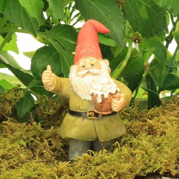 Standing Gnome with Beer