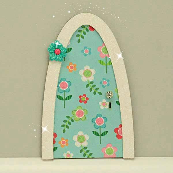 Blue Daisy Sparkle Door
