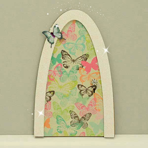Vintage Butterfly Fairy door