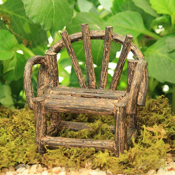 Brown Twig Style Bench