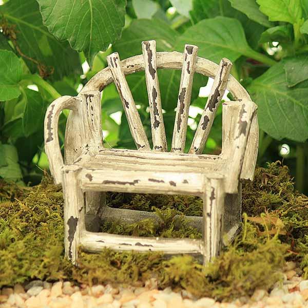 Twig Style Garden Bench White