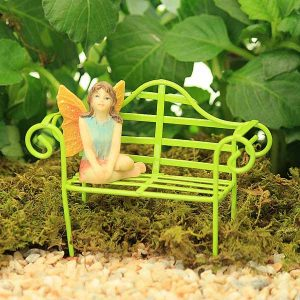 Wire Garden Bench - Green