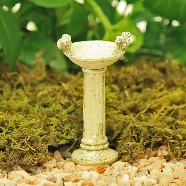 Cream Bird Bath
