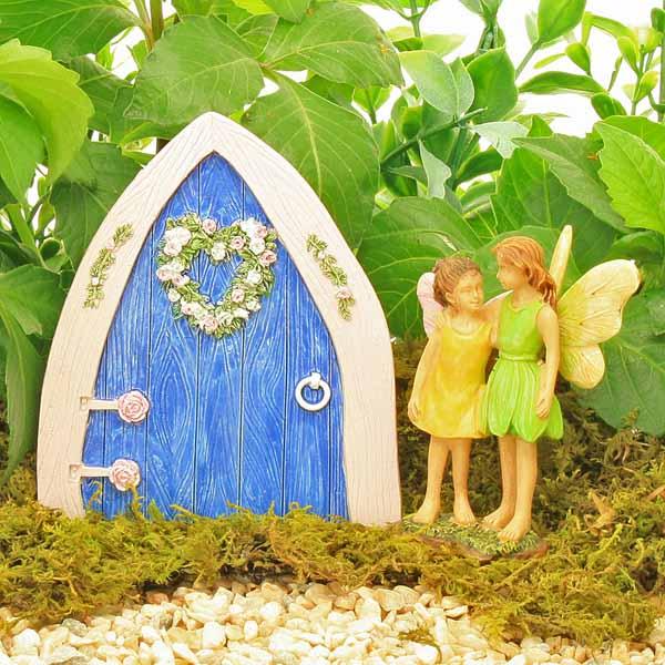 Small Fairy Door -Blue Heart