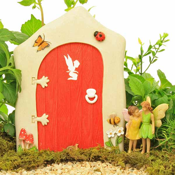 Large Red Fairy Door - Silhouette
