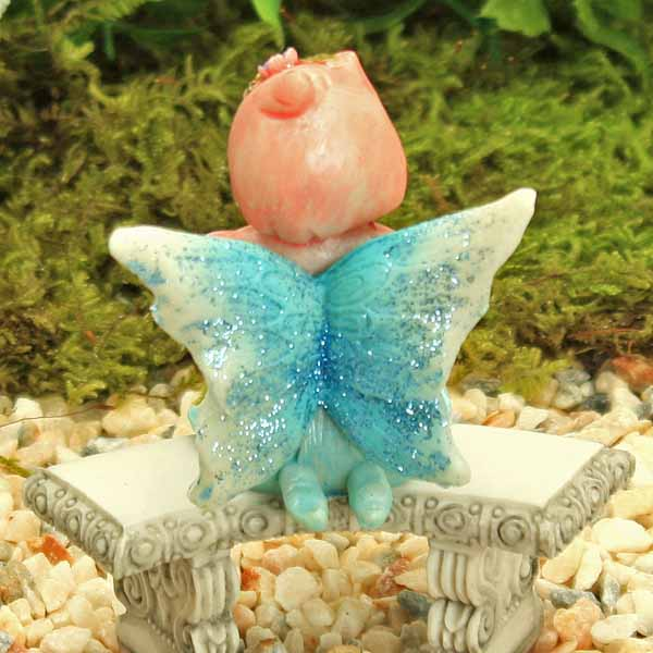 Blue Sitting Fairy