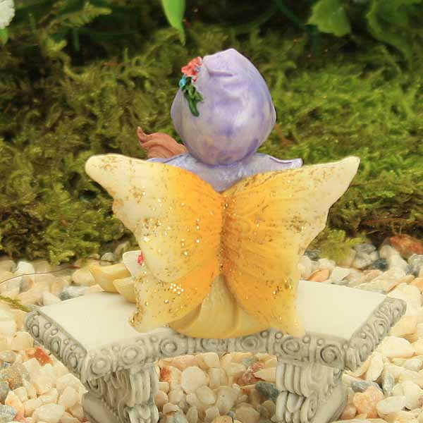 Yellow Sitting Fairy