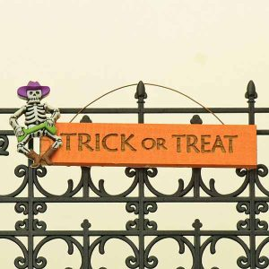 Trick or Treat Hanging Sign/Skeleton