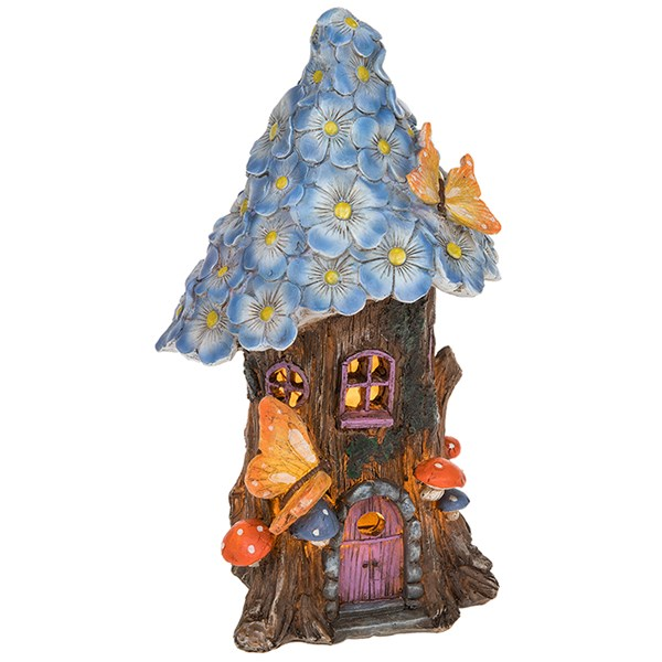 Blue Flower Fairy Tree House
