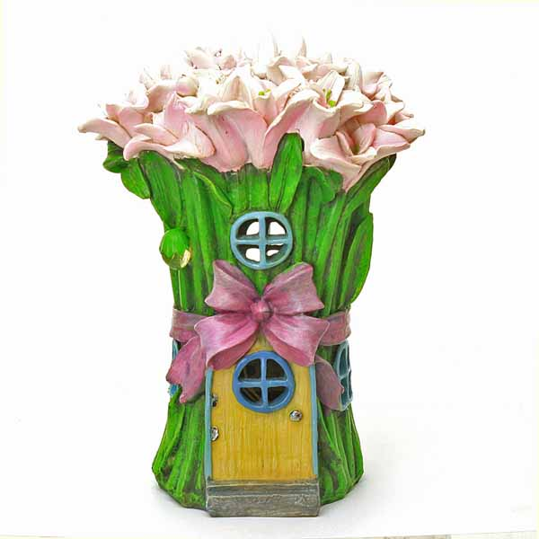 Pink Lily Fairy House
