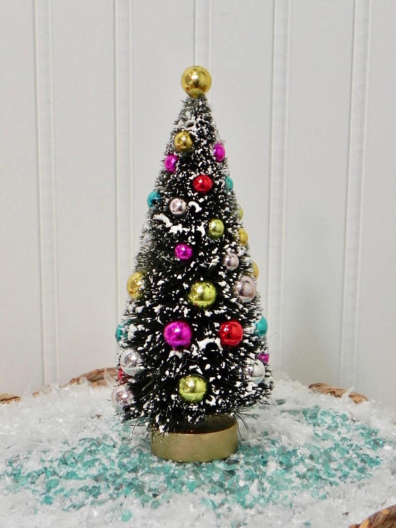 Christmas Tree and Coloured Baubles