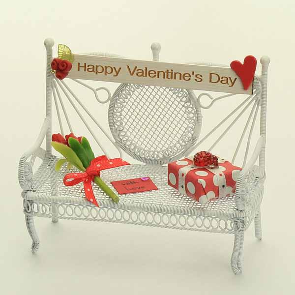 Red Valentines Bench