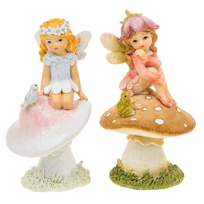 Flower Petal Fairy on Mushroom