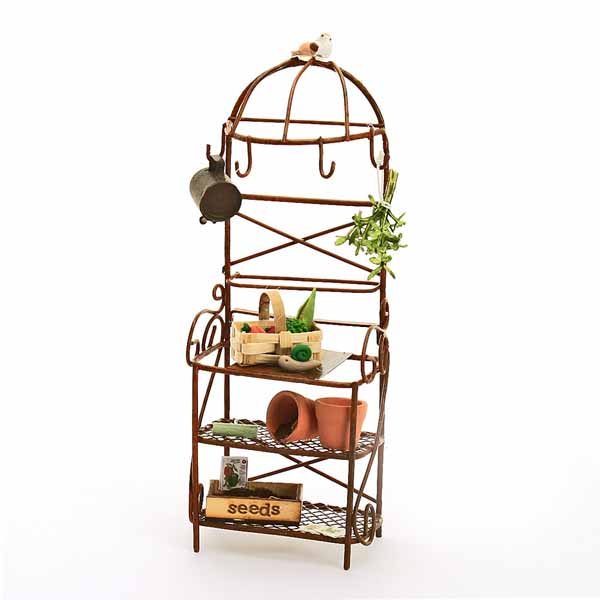 metal potting bench/vegetables