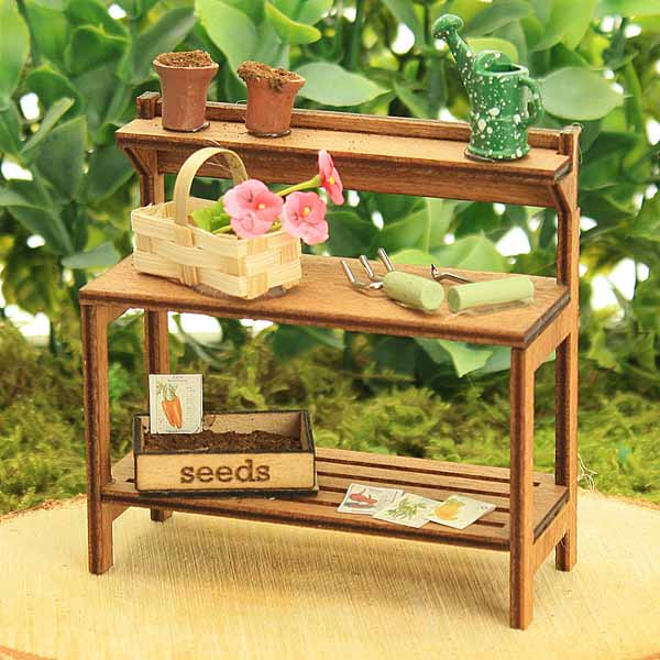 Flower Basket Potting Bench