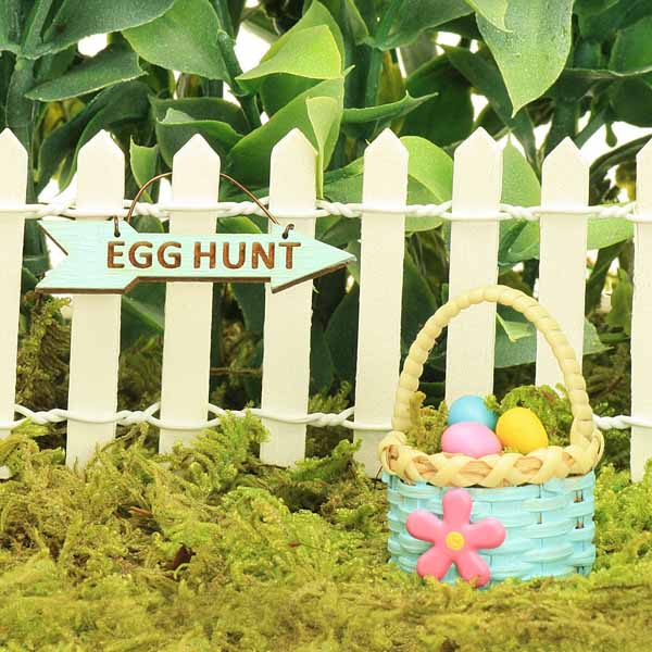 Duck Egg Easter Egg Hunt Sign & Basket