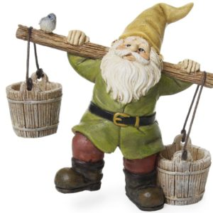 busy gnome with buckets