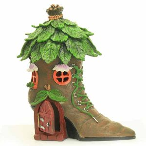 Boot Fairy House With LED Light