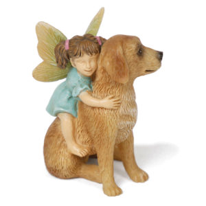 Fairy and Dog Taking a Ride
