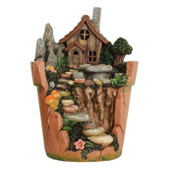 cracked terracotta pot house