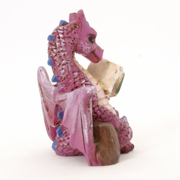 Reading dragon with book