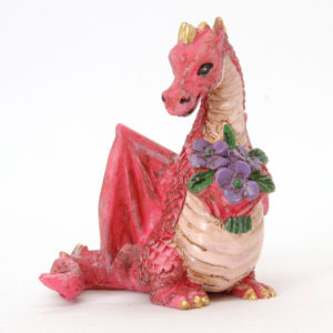 Red Dragon with Flowers