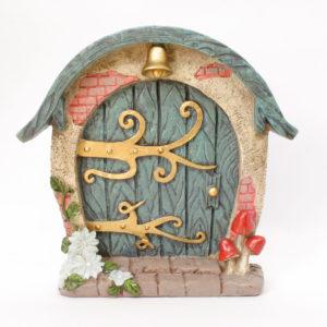 Blue Fairy Door with Bell