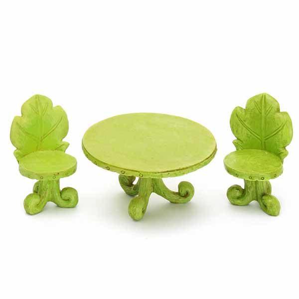 Oak Leaf Table & Chair Set